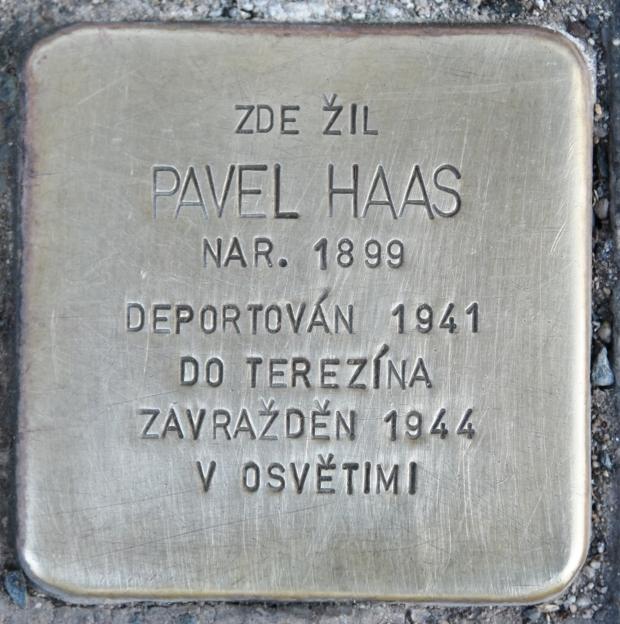 Haas stolperstein in Brno
