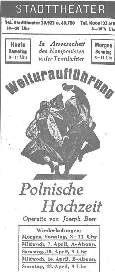 Beer Polnische Hochzeit Poster World Premiere