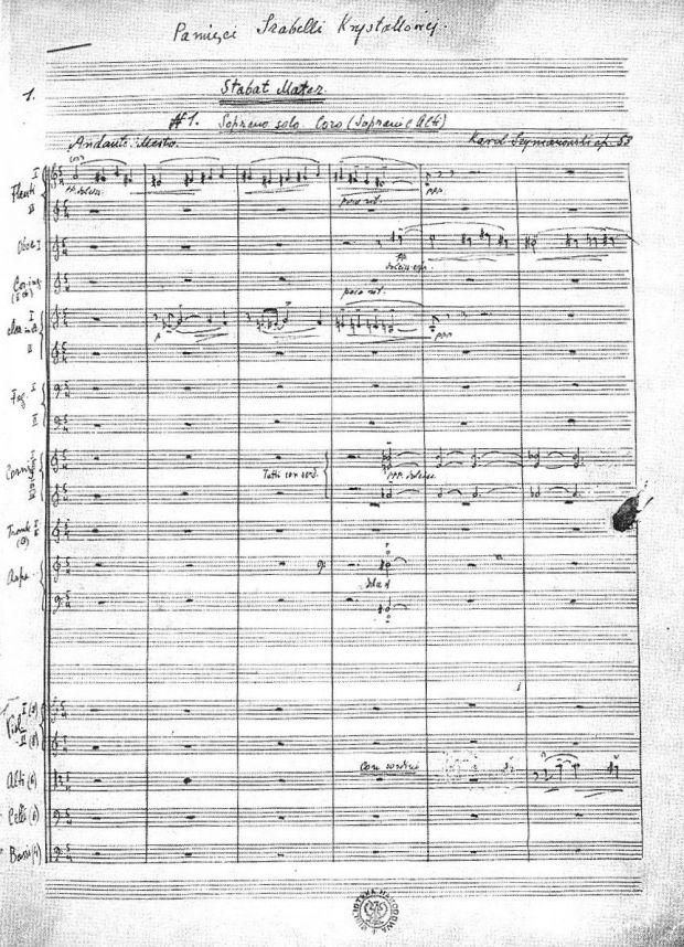 Karol_Szymanowski_Autograf_partytury_Stabat_Mater_z_dedykacją_1926