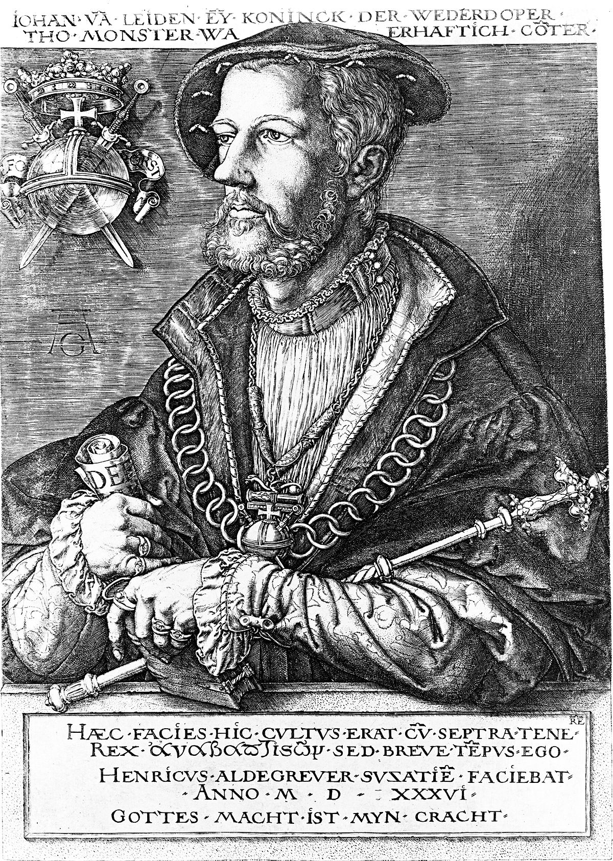 Le Prophete Jan_van_Leiden_by_Aldegrever