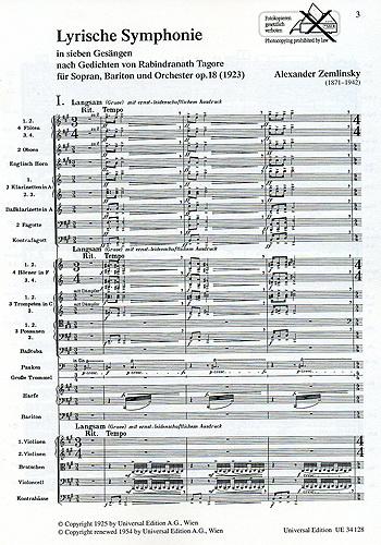 Zemlinsky LS partituur