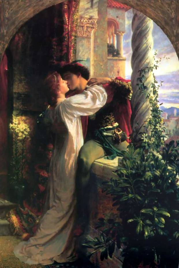 RomeoAndJuliet 1884 painting by Frank Bernard Dicksee.