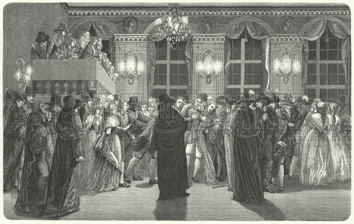 Assassination of King Gustav III of Sweden at a masked ball at the Royal Opera House in Stockholm, 1792