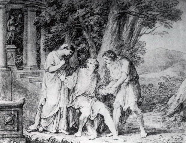 Iphigenie met Pylades en Orest