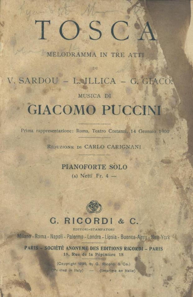 Tosca partituur