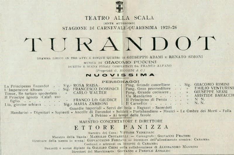 Raisa Turandot poster