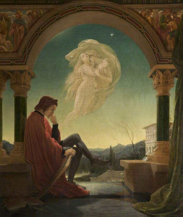 Paton, Joseph Noel, 1821-1901; Dante Meditating the Episode of Francesca da Rimini and Paolo Malatesta