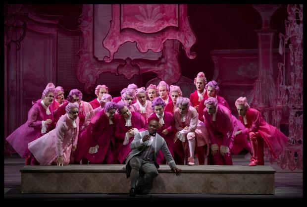 Lawrence Brownlee (Don Ramiro) en Koor van De Nationale Opera