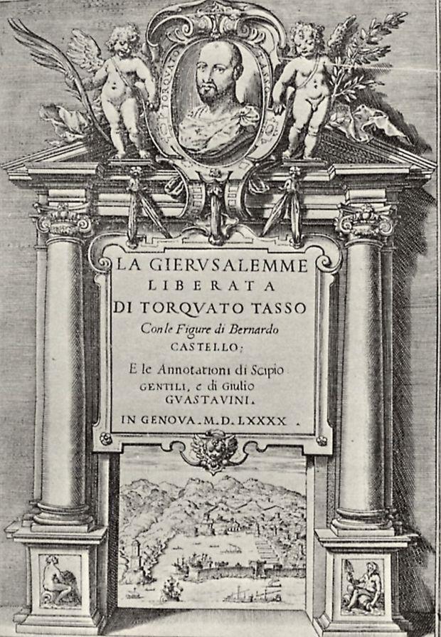 Armida Agostino_Carracci,_Frontespizio_della_prima_edizione_illustrata_della_Gerusalemme_Liberata,_1590