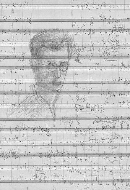 silenced -Zelfportret_op_partituur,_door_Dick_Kattenburg