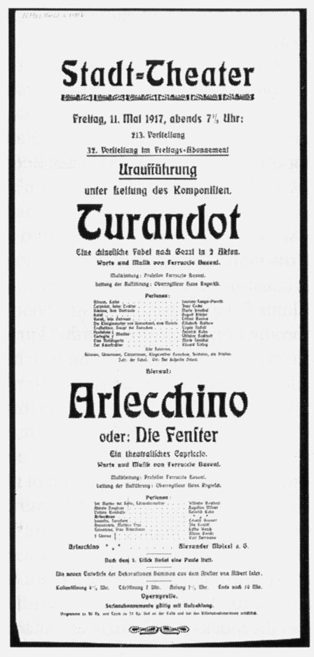 Busoni Turandot-Arlechino_Premier_Poster_600391